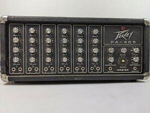 Peavey PA-400 Mixer Head Amplifier 6CH 210 Watt Power