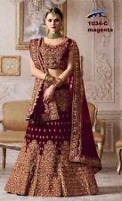 Magenta Heavy Bridal Lehenga Choli Lengha Chunri Designer Sari Saree Party Wear