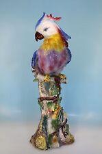 Enorm große RONZAN Keramik Papagei Dame Parrot 56,5 cm