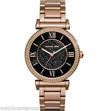 Michael Kors Women's Catlin Rose Gold-Tone Watch 38mm MK3356