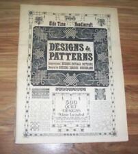 Olde Time Needlecraft Designs Patterns borders tatting quilt squares crochet