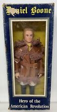 "Vintage 8"" Hero Of The American Revolution Daniel Boone Figure MIB"