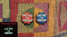 10 Pack of Just Say No To Heroin Glow in the Dark Glitter Sacred Geometry Pins