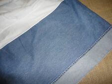 TOMMY HILFIGER CUFFED ALL AMERICAN DENIM FULL BEDSKIRT BLUE 14