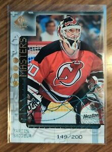 1998-99 UD SP Authentic #SO13 Martin Brodeur SP Stat Masters #149/200 Devils