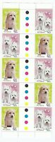 2004 AUSTRALIA STAMP GUTTER STRIP 'CATS & DOGS' - 10 X 50 cent MNH DOG STAMPS