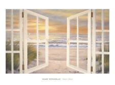 Sunset Beach by Diane Romanello Art Print Seascape Coastal Ocean Poster 38x28