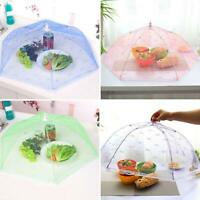 Fold Food Cover Tent Umbrella Collapsible Cake Covers Lace Mesh Net Insect New