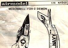 Airmodel 1:72 McDonnell F3H-2 Demon Vacuform Aircraft Model Kit #202