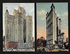 Y36 N.Y.C. 2 Pcs. Park Row Building & City Investment Building