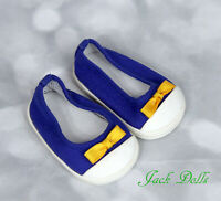 American Girl Doll of the Year 2010 LANIE Blue Canvas MEET SHOES Yellow Bow