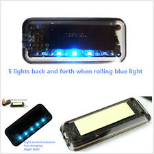 Solar Energy Blue 6LED Burglar Warning Solar Light Car Security Alarm Flash Lamp