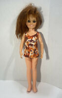 "Ideal 1971 Crissy Doll Growing hair wind up vintage Chrissy 18"" Miniskirt Dress"