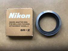 Nikon Macro Adaptor Ring  BR-2.  Bellows focusing attachment Model 2.  Boxed