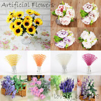 20 Style Artificial Fake Flower Floral Bouquet Wedding Party Bridal Home Decor