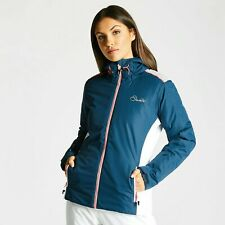 Dare2b Womens Project Ski Jacket Blue Wing Silver Flash Available Sizes 12,14,16