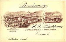 """Eisenach um 1900 """"Besuchsanzeige"""" Cigarren Tabak Fabrik Fleischhauer seltene AK"""