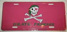 """Jolly Roger Pink Princess Pirate 6""""x12"""" License Plate Sign"""