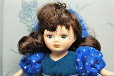 "Marie Osmond 1996 Greeting Card Knickerbocker Anniversary Blue 5"" Porcelain Doll"