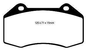 DP21539 EBC Greenstuff FRONT Brake Pads fit CHEVROLET OPEL RENAULT VAUXHALL
