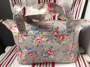 Cath Kidston Grey Floral Oil Cloth Bag