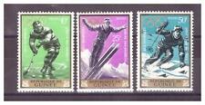 GUINEE  .   N° 195/197 ..3  VALEURS  J.O. D ' INSBRUCK   NEUVES  * .SUPERBE  .