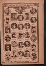 World War I Roll of Honor 1918 Deaths of Heros WWI #96