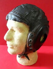 ARMY AIR FORCES PILOT'S TYPE A-11 LEATHER FLYING HELMET SIZE LARGE