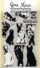 Gina Marie designs layered stamp set - German Shepherd layered dog