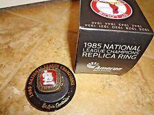 St Louis Cardinals 1985 National League Champions Replica Ring NLCS Busch SGA