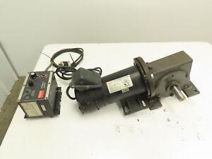 Dayton 1F800 DC Motor 1/2 HP 1750 RPM 115VAC Input 25:1 Gearbox Adjustable Speed