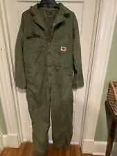 Vintage 1950s Blue Top Sanforized Work Coveralls Olive Green Union Made Mens