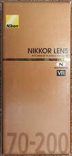 **NEW + NO TAX** Nikon 70-200mm f/4G ED VR Nikkor Zoom Lens