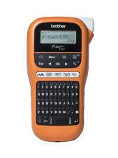Brother P-Touch PT-E110 Beschriftungsgerät Labelprinter in Orange BRANDNEU