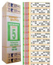1500 libri gioco di 7 Pagine Strisce di 12 TV Jumbo Bingo biglietti foglio Big Bold Numeri