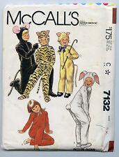 HALLOWEEN COSTUME MCCALL'S 7132 CHILDS SZ 8 CAT DOG MOUSE RABBIT