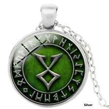 Wunderschöne Odals Rune  Silber Farben  Halskette  mit  Anhänger  Wikinger