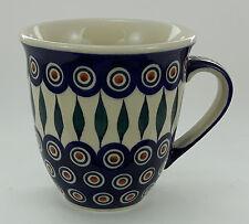 Bunzlauer Keramik Tasse MARS Maxi - Becher, blau/weiß/grün - 0,43 Ltr. (K106-54)