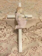 Roman Inc Communion Girl Cross Porcelain