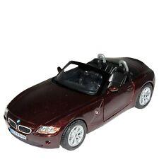 "5"" Kinsmart BMW Z4 Convertible Diecast Model Toy Car 1:32 Maroon"