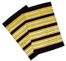 New 4 Bar Gold Airline Pilot Epaulets Captain Shoulder Board Insignia Sliders