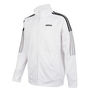 Adidas Big Boys Lightweight Full Zip Windbreaker Jacket Size: M (10-12) White