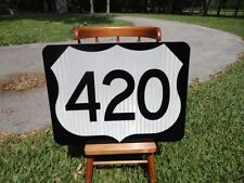 Route 420 New Reflective Road Sign Great for Bar Man Cave Restaraunt etc RT 420