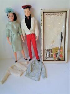 1960s Remco Dr. John & Lisa Littlechap Dolls + Dr. John's Golf Outfit