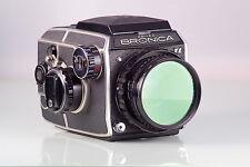 RARE ZENZA BRONICA EC-TLII EC TL + NIKKOR-P.C 75mm 75 6X6 120 + WLF + NEAR MINT