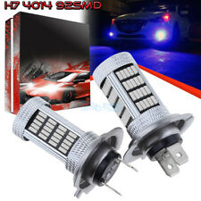 2Pcs H7 4014 92Smd Led Fog Light Bulb Conversion Kit Super Premium 10000K Blue