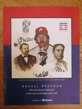56th HOF Baseball Program JULY 31, 1995 RICHIE ASHBURN MIKE SCHMIDT LEON DAY