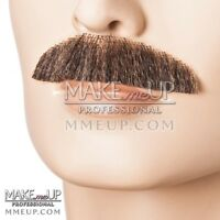 Chevron Brown Mustache Hair Makeup stage Theatrical costume Facial brush natural