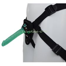 Strap-on Harness with Green Dildo Dong Anal Butt Plug Sex-toys for Lesbian Women