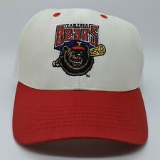 Vintage Yakima Bears MiLB Minor League Logo Hat Snapback Cap White Red RARE